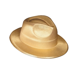 Gold Theatrical Fedora | Party Supplies