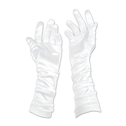 White Evening Gloves