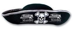 Custom Imprinted Adult Black Felt Pirate Hat