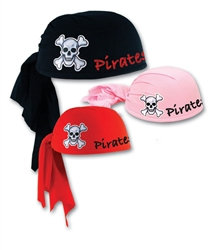 Custom Imprinted Black Pirate Scarf Hat