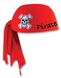 Custom Imprinted Red Pirate Scarf Hat