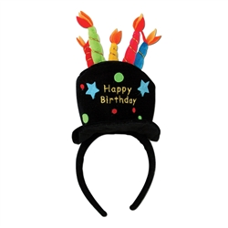 Plush Happy Birthday Headband