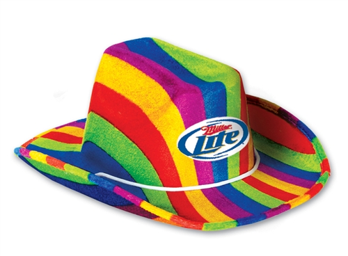2ea199fc5 Custom Imprinted Rainbow Cowboy Hat