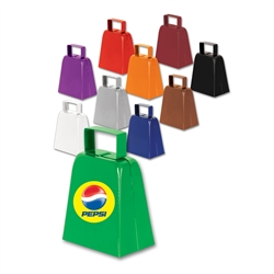 4-Color Custom Imprinted Cowbells