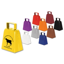 1-Color Custom Imprinted Cowbells