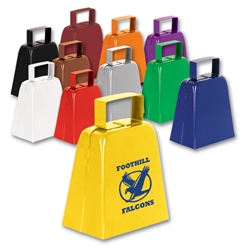 1-Color Direct Imprinted Sport Cowbells