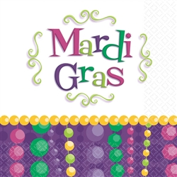 Mardi Gras Celebration Beverage Napkins, 30 ct. | party supplies