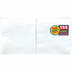 Frosty White Big Party Pack Luncheon Napkins | Party Supplies