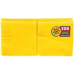 Yellow Sunshine 2-Ply Luncheon Napkins - 125ct. | Party Supplies