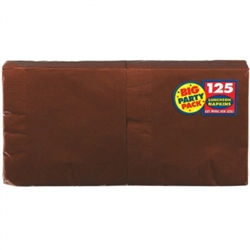 Chocolate Brown Luncheon Napkins - 125ct | Party Supplies