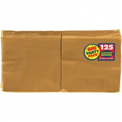 Gold Luncheon Napkins - 125ct. | Party Supplies