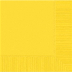 Yellow Sunshine 3-Ply Luncheon Napkins - 50ct | Party Supplies