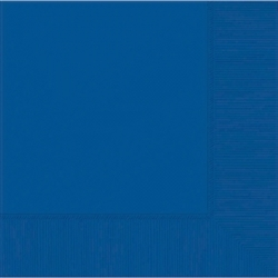 Bright Royal Blue 3-Ply Luncheon Napkins | Party Supplies