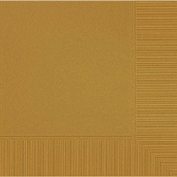 Gold 3-Ply Luncheon Napkins - 50ct. | Party Supplies