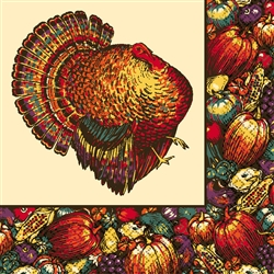 Autumn Turkey Luncheon Napkins | Party Supplies