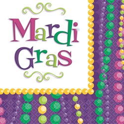 Mardi Gras Celebration Luncheon Napkins, 30 ct. | party supplies
