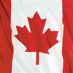 Waving Flag Canadian Luncheon Napkins | Party Supplies