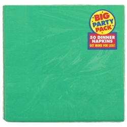 Festive Green 2-Ply Dinner Napkins - 50ct | Party Supplies