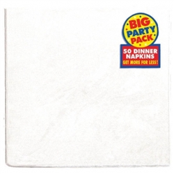 Frosty White Big Party Pack 2-Ply Dinner Napkins | Party Supplies