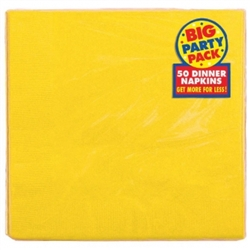 Yellow Sunshine 2-Ply Dinner Napkins - 50ct | Party Supplies