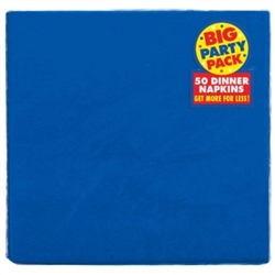 Bright Royal Blue Big Party Pack 2-Ply Dinner Napkins | Party Supplies