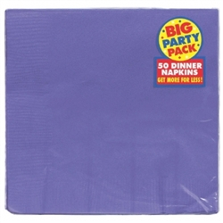 New Purple 2-Ply Dinner Napkins - 50ct | Party Supplies