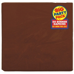 Chocolate Brown Dinner Napkins - 50ct. | Party Supplies