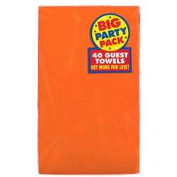 Orange Peel Guest Towels 2-Ply 40 ct | Party Supplies