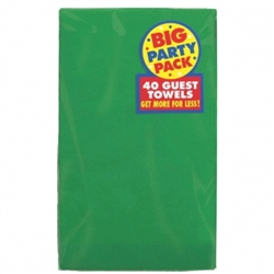 Festive Green 2-Ply Guest Towels - 40ct | Party Supplies