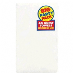 Frosty White Big Party Pack 2-Ply Guest Towels | Party Supplies