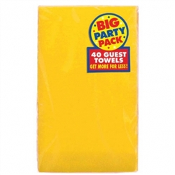 Yellow Sunshine 2-Ply Guest Towels - 40ct | Party Supplies