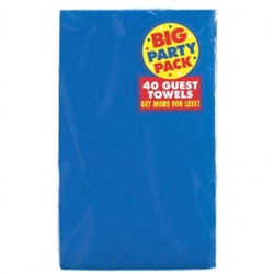 Bright Royal Blue Big Party Pack 2-Ply Guest Towels | Party Supplies
