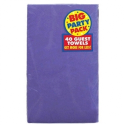 New Purple 2-Ply Guest Towels - 40ct | Party Supplies