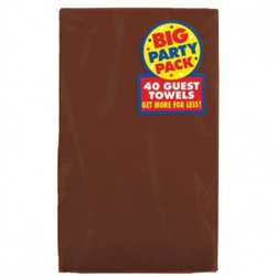 Chocolate Brown Guest Towels - 40ct. | Party Supplies