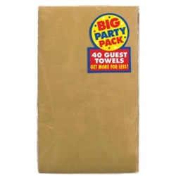 Gold Guest Towels - 40ct. | Party Supplies