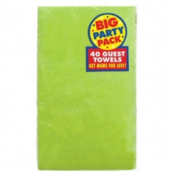 Kiwi Big Party Packs 2-Ply Guest Towels | St. Patrick's Day Party Supplies