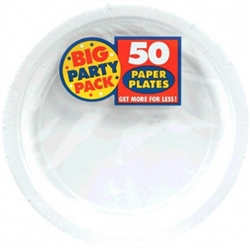 "Frosty White Big Party Pack 7"" Paper Plates 