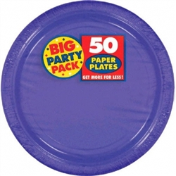 "New Purple 7"" Paper Plates - 50ct 
