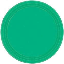 "Festive Green 7"" Paper Plates - 20ct 