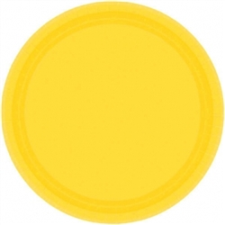 "Yellow Sunshine 7"" Paper Plates - 20ct 