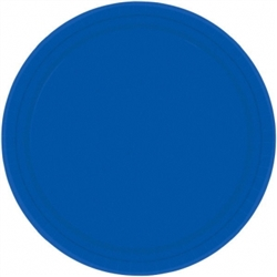 "Bright Royal Blue 7"" Paper Plates 