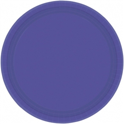 "New Purple 7"" Paper Plates - 20ct 