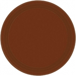 "Chocolate Brown Paper 7"" Plates - 20ct. 