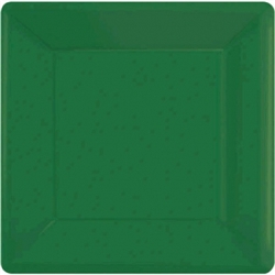 "Festive Green 7"" Square Paper Plates - 20ct 