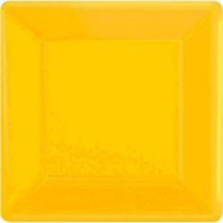 "Yellow Sunshine 7"" Square Paper Plates - 20ct 
