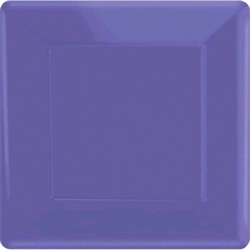 "New Purple 7"" Square Paper Plates - 20ct 