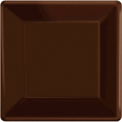 "Chocolate Brown 7"" Paper Plates - 20ct. 