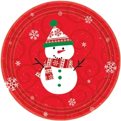 "Very Merry 7"" Round Paper Plates 