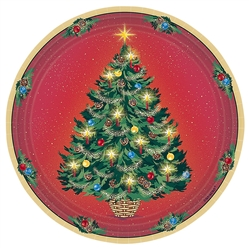 "Warmth of Christmas 7"" Round Paper Plates 