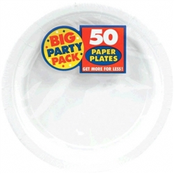 "Frosty White Big Party Pack 9"" Paper Plates 